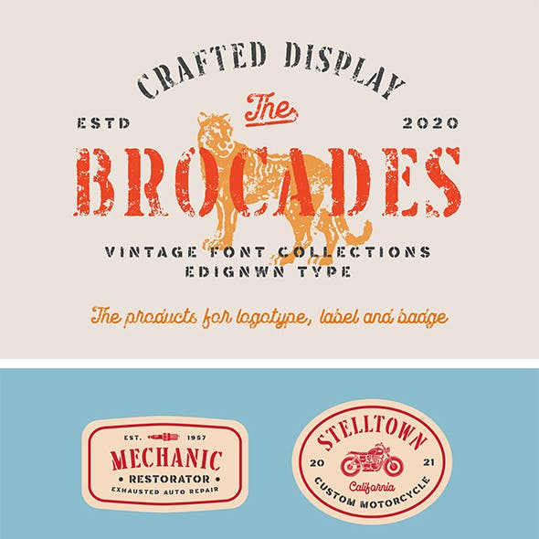 Brocades - Crafted Font