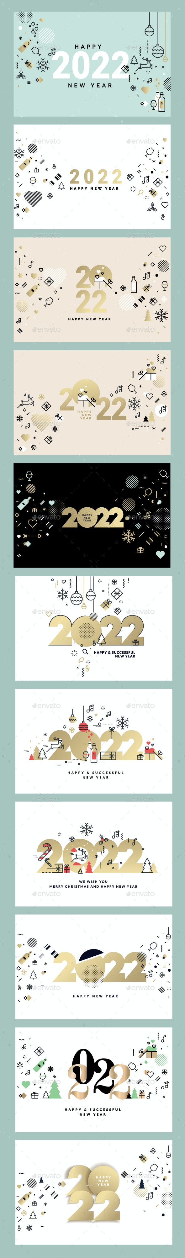 Merry Christmas and Happy New Year 2022 - New Year Seasons/Holidays