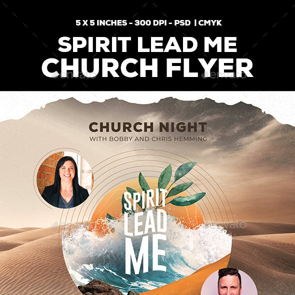 Spirit Lead Me Church Flyer