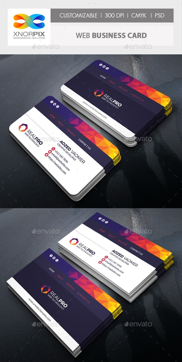Web Business Card - Corporate Business Cards