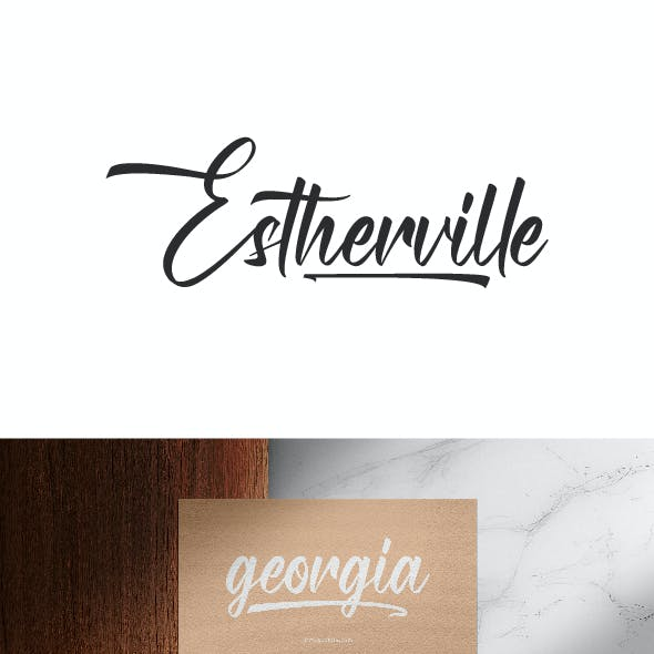 Estherville Calligraphy Font