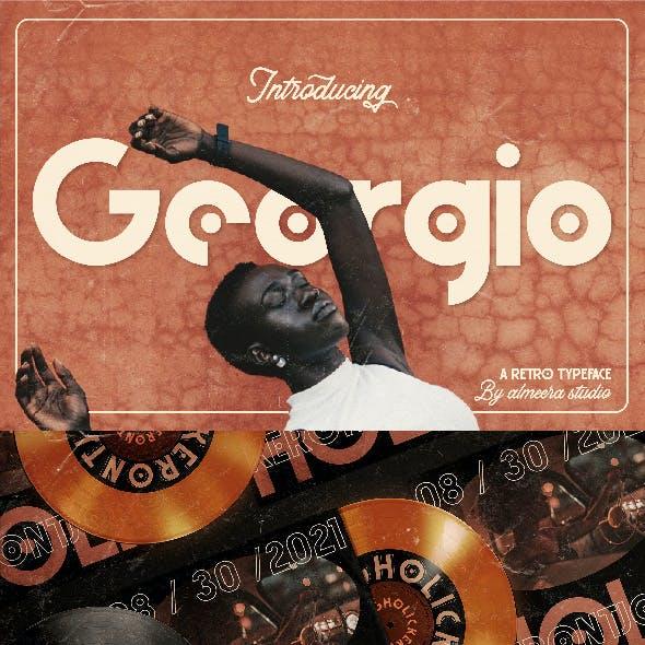 Georgio   Retro Typeface