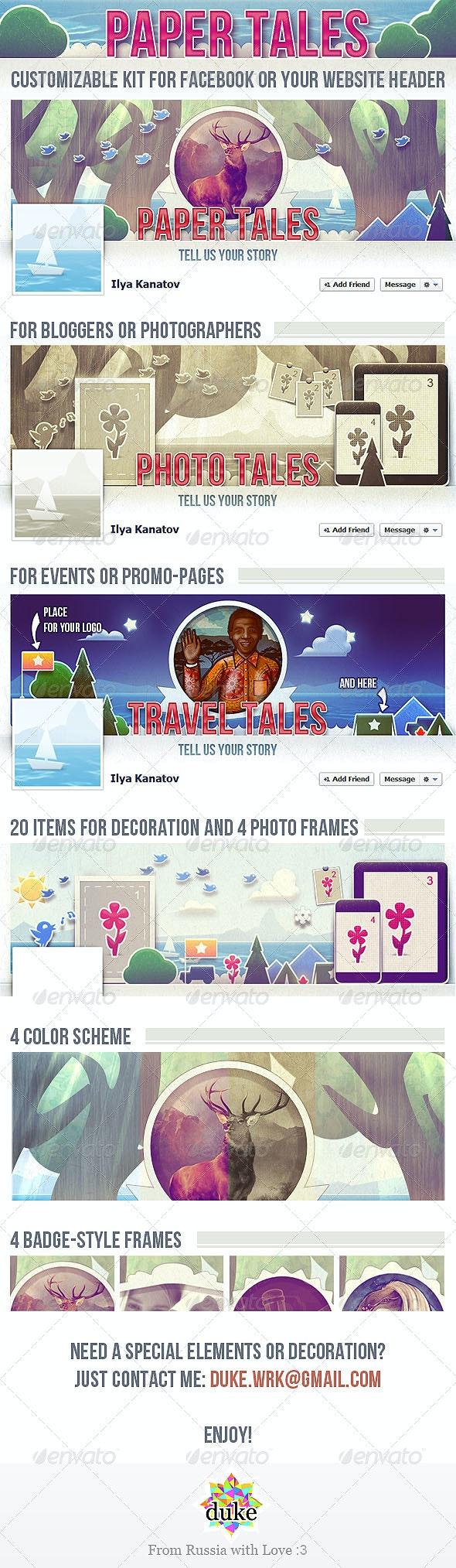 Paper Tales FB Timeline Cover - Facebook Timeline Covers Social Media