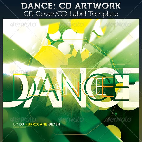 Dance: CD Cover Artwork Template
