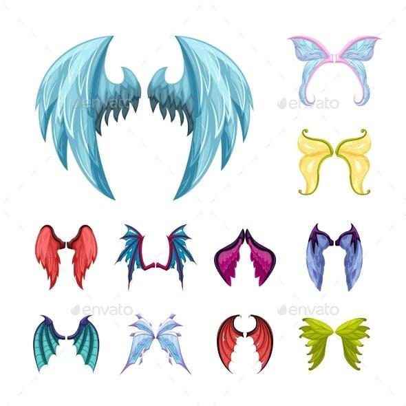 Colorful Magic Wings Set