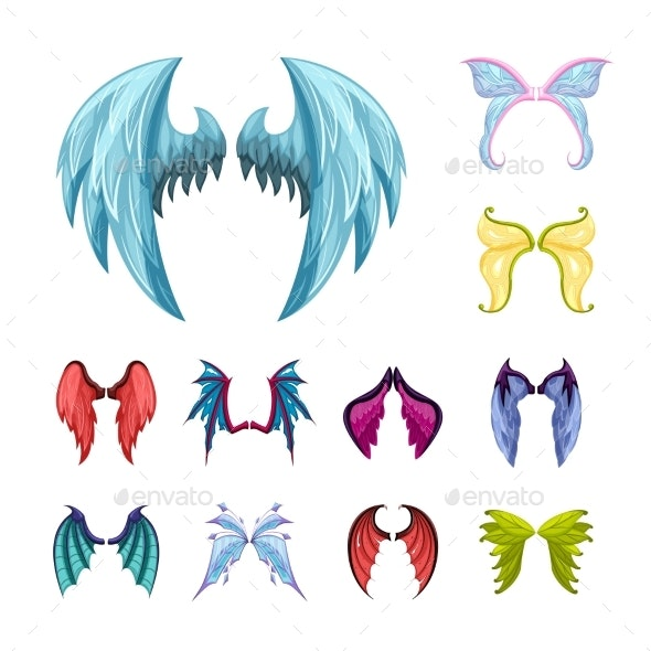 Colorful Magic Wings Set - Animals Characters