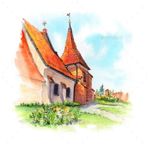 Church of Saint John of Jerusalem in Poznan - Urban Backgrounds