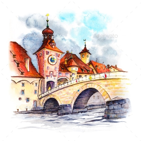 Regensburg Eastern Bavaria Germany - Urban Backgrounds