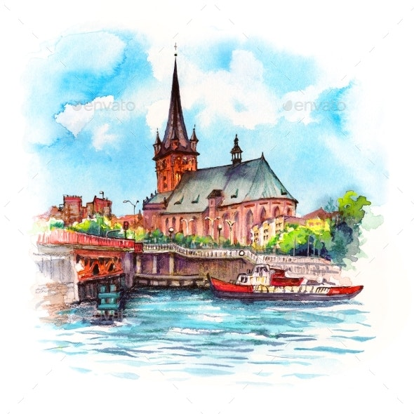 Szczecin Cathedral Poland - Urban Backgrounds
