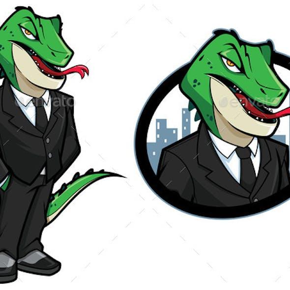 Reptilian Character Mascot