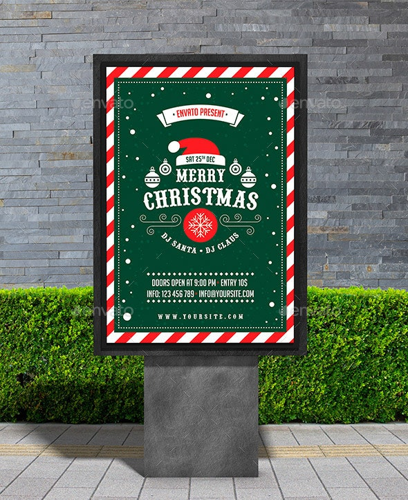 Christmas Party Poster - Signage Print Templates