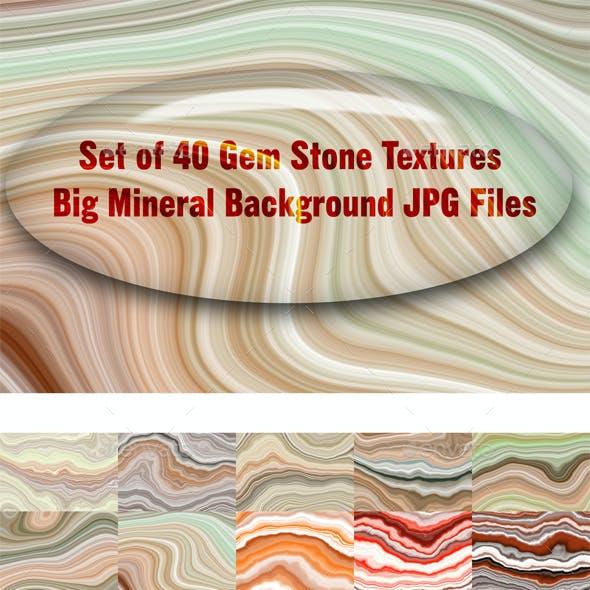 Set of 40 Gem Stone Textures - Big Mineral Background JPG Files