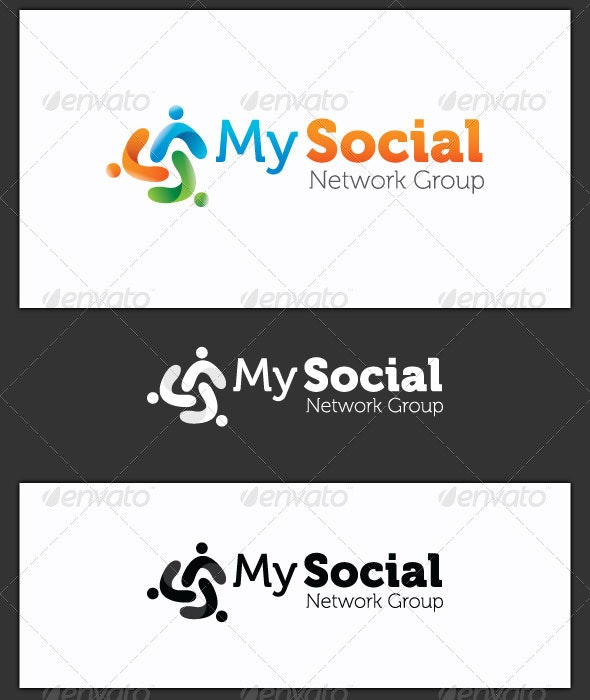 My Social Network Group Logo Template - Symbols Logo Templates