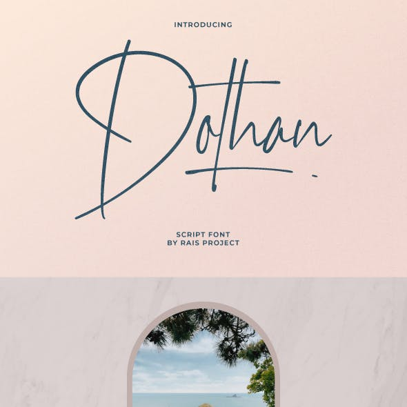 Dothan Signature Font