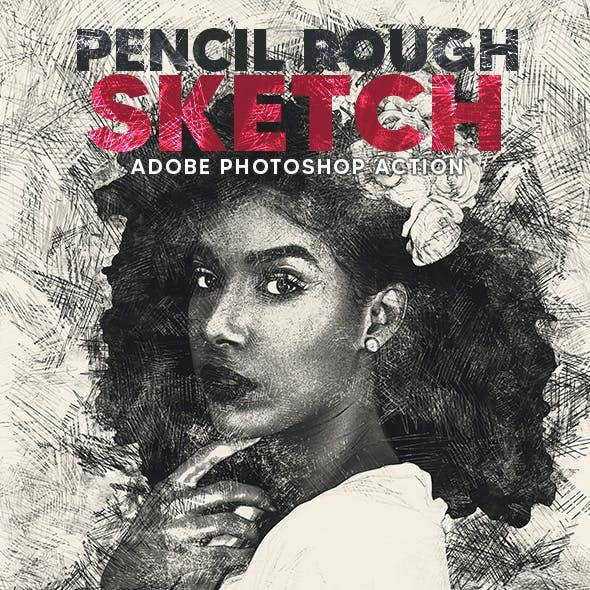 Pencil Rough Sketch Action