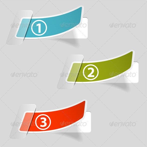 Options Sticker Labels - Web Elements Vectors