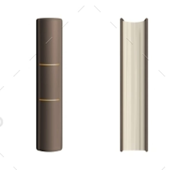 Book Spine and Cover Mockup Blank Classic Volume