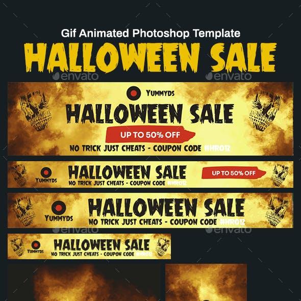 GIF Banners - Halloween Sale Banners Ad