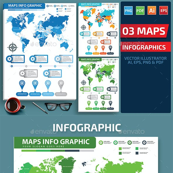 Maps Infographics design