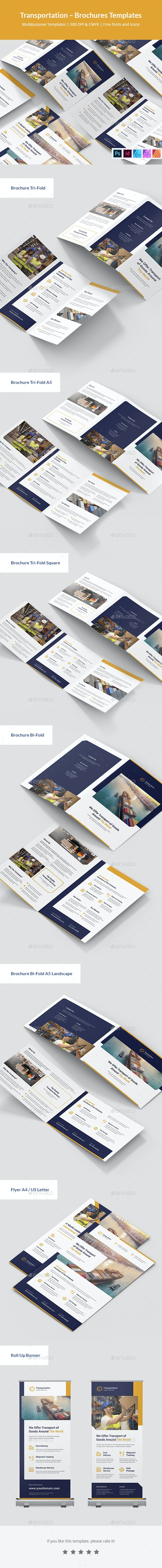 Transportation Brochures Print Templates - Corporate Brochures
