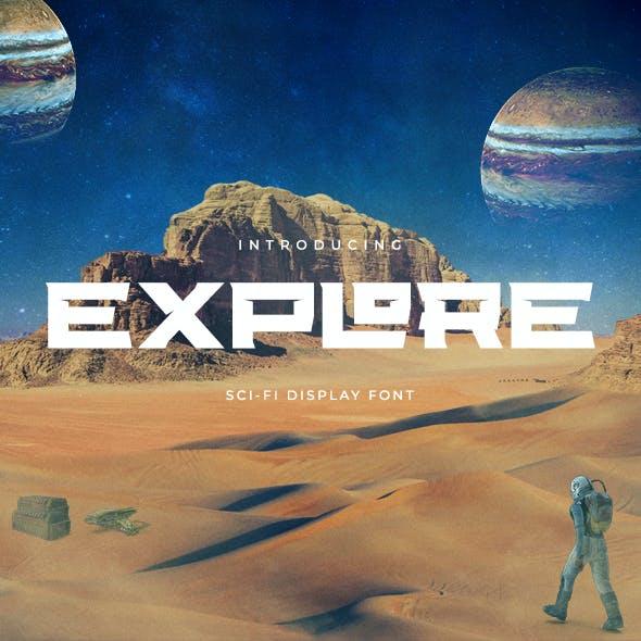 Explore Sci-fi Font