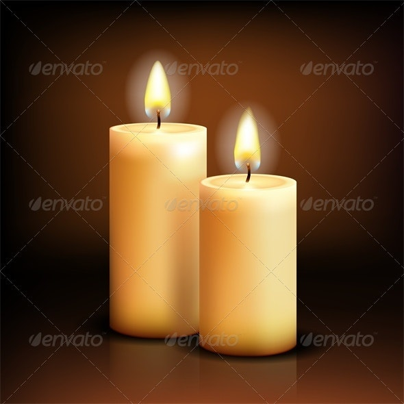 Isolated candles - Religion Conceptual