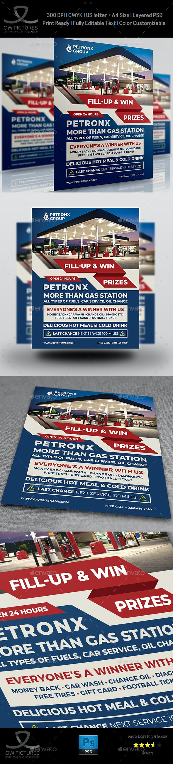 Gas Station Flyer Template Vol.4 - Flyers Print Templates