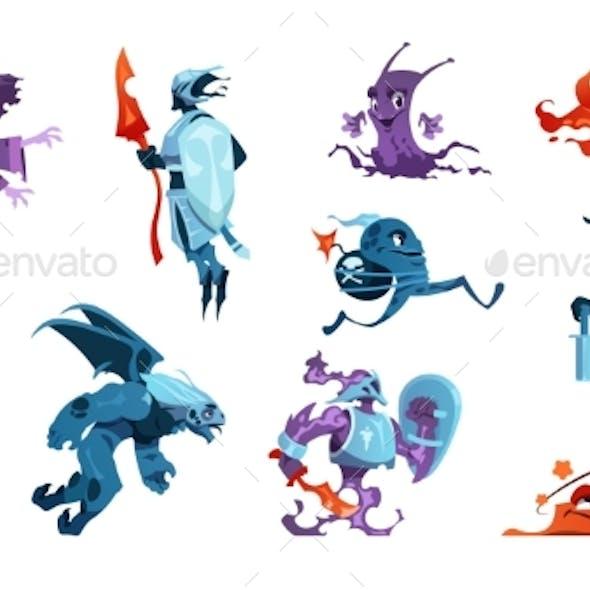 Cartoon Game Monsters
