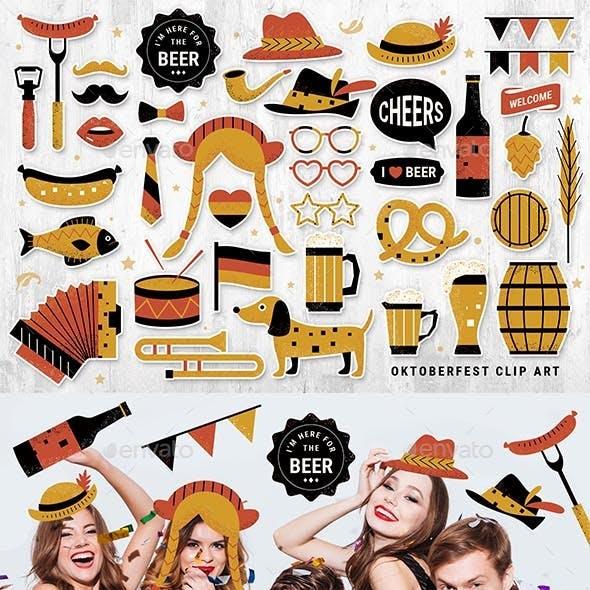Oktoberfest Clipart Illustrations / Stickers