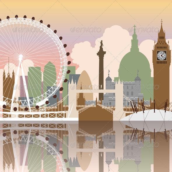 London Cityscape - Buildings Objects