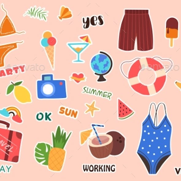 Summer Stickers and Posters