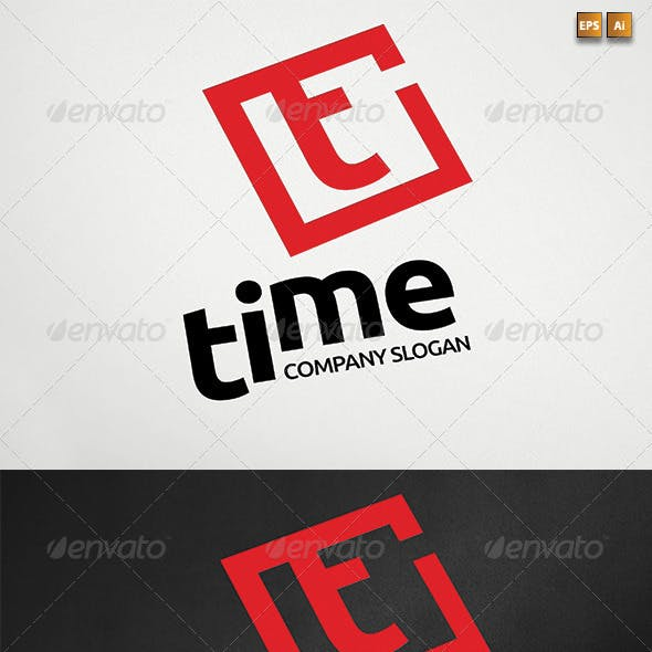 Letter T aka Time Logotype Template