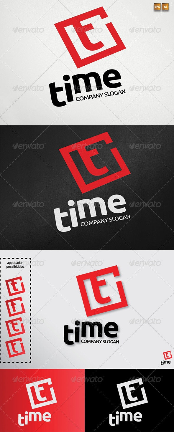 Letter T aka Time Logotype Template - Letters Logo Templates