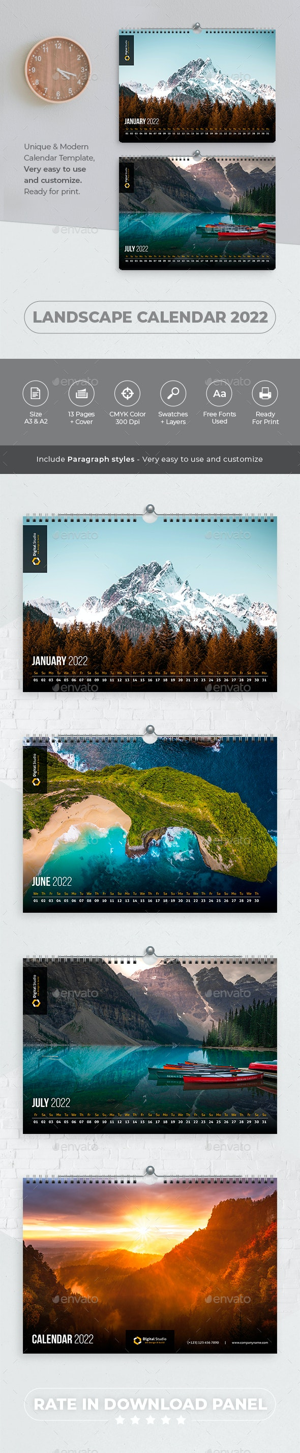 Landscape Calendar 2022 - Calendars Stationery