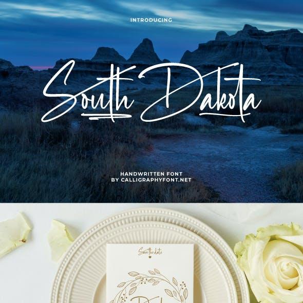 South Dakota Signature Font