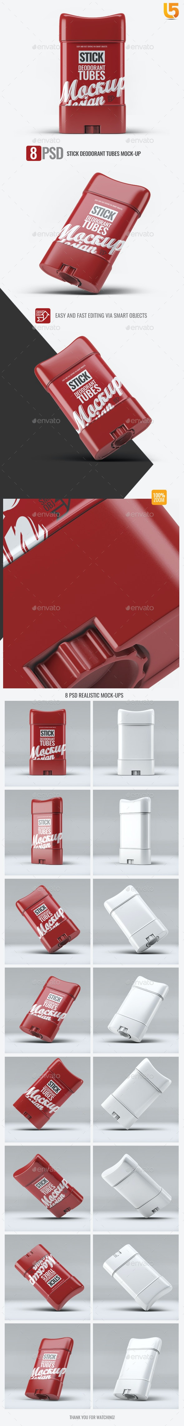 Stick Deodorant Tubes Mock-Up - Beauty Packaging