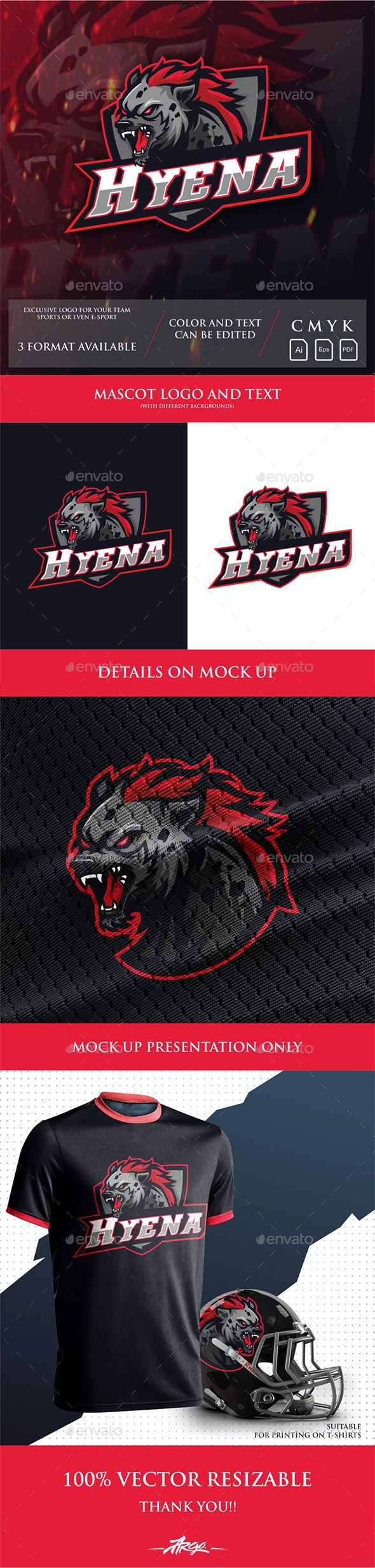 Hyena Sports logo - Sports Logo Templates