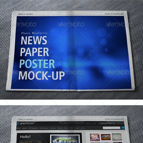 News Paper Mock up