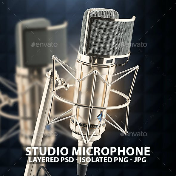 Studio Microphone 3D Renders