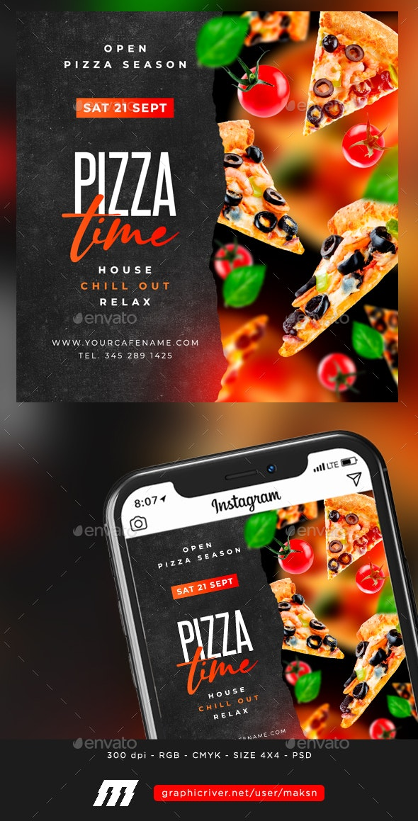 Pizza Time Flyer - Events Flyers