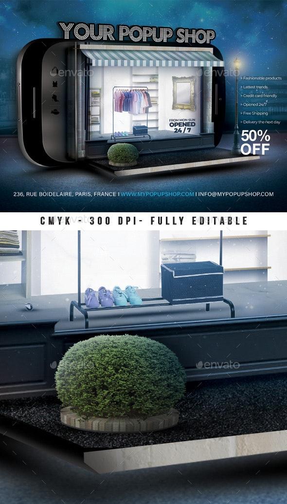 Pop Up Store Flyer - Commerce Flyers