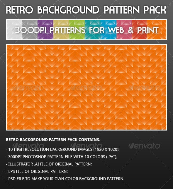 Retro Background Pattern Pack - Patterns Backgrounds