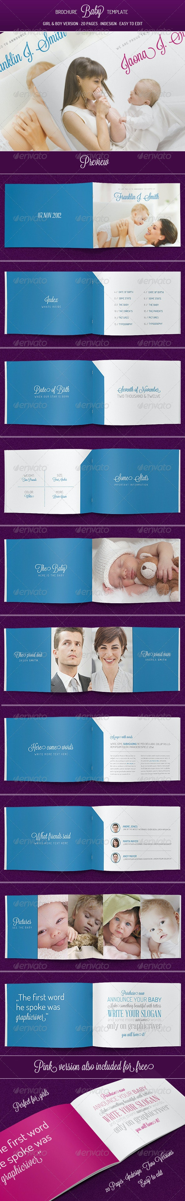 Baby - Brochure Template - Brochures Print Templates