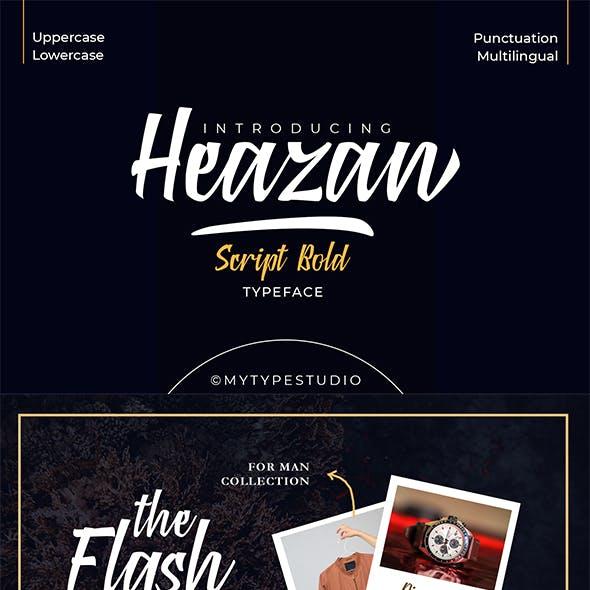 Heazan - Script Bold Typeface