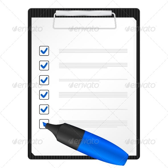 Clipboard and text marker