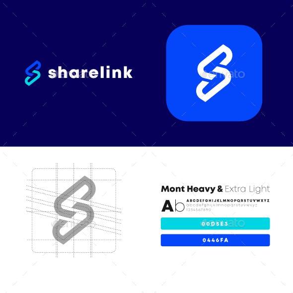 Share Link Letter S Logo Design