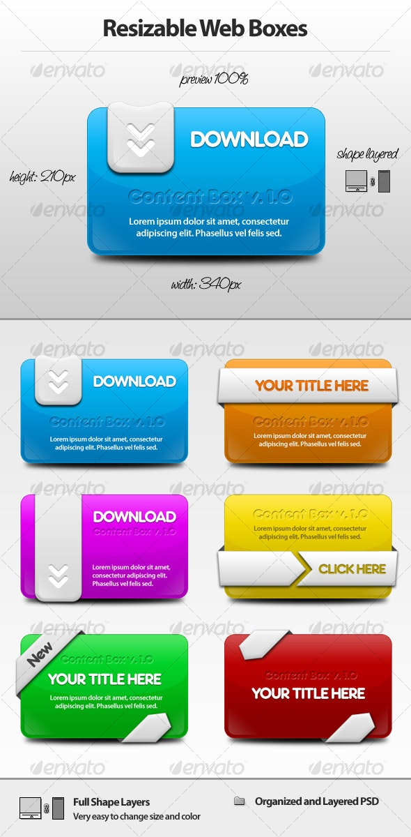 Resizable Web Boxes - Web Elements