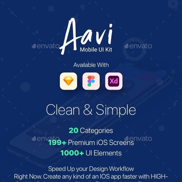 Aavi Mobile App UI Kit