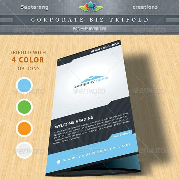 Corporate Biz Trifold Brochure