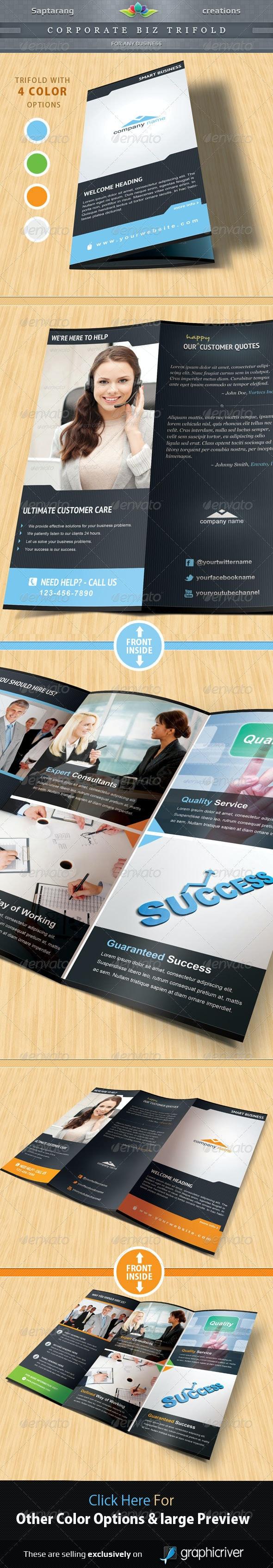 Corporate Biz Trifold Brochure - Corporate Brochures